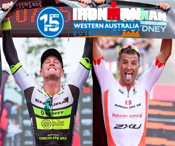 495202ee25f96 Former course record holder and IRONMAN Western Australia race pioneer Luke  McKenzie and defending champion and current record holder Terenzo Bozzone  are on ...