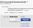 Ironman Foundation eBay Auction
