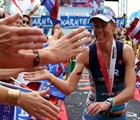 The crowd goes wild as records were smashed at IRONMAN Austria